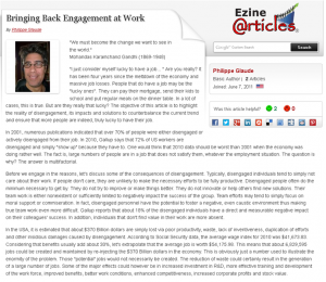 Engagement at work ezine